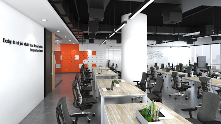 พื้นที่ทำงานของ Programmer โดย DD Double Design โมเดิร์น