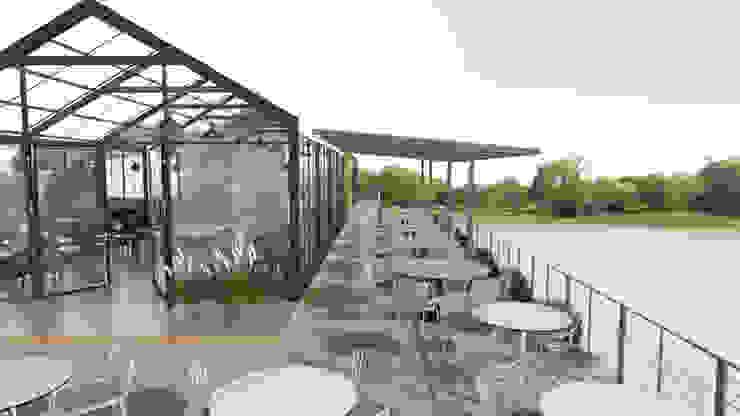 La Santir Cafe & Restaurant โดย DD Double Design โมเดิร์น