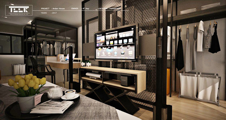ที่พักอาศัย ทาวน์โฮม 3 ชั้น โดย Teek interior design