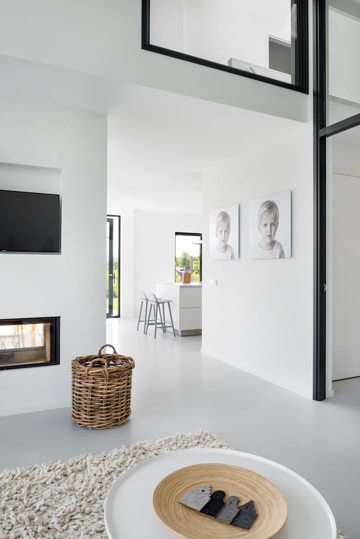 BNLA architecten Salones de estilo moderno