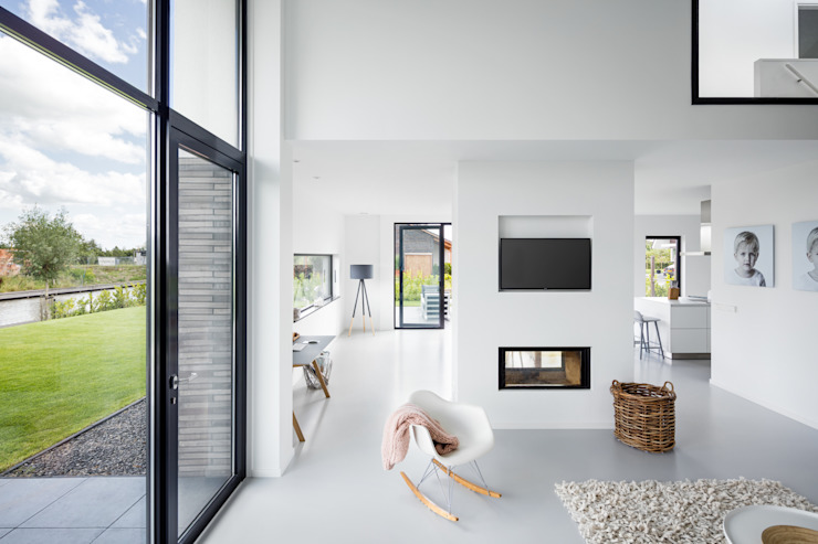 Living room by BNLA architecten, Modern