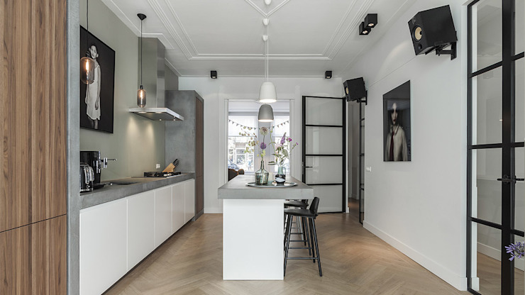 BNLA architecten Modern kitchen