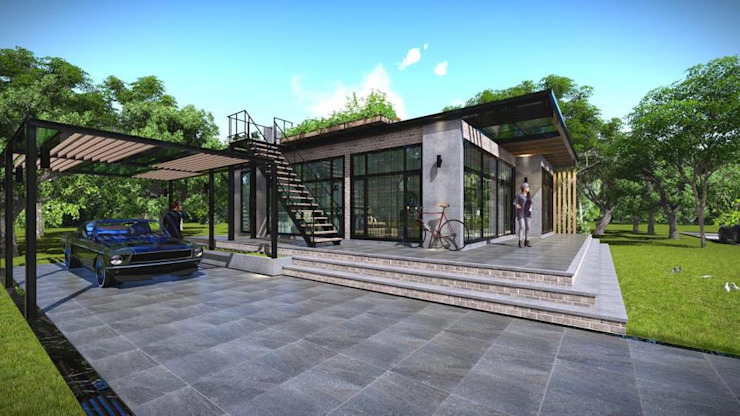 ภาพ3D บ้าน modern loft โดย London 38