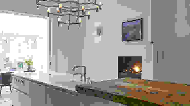 Modern ontwerp in monumentale stadswoning Moderne keukens van BNLA architecten Modern