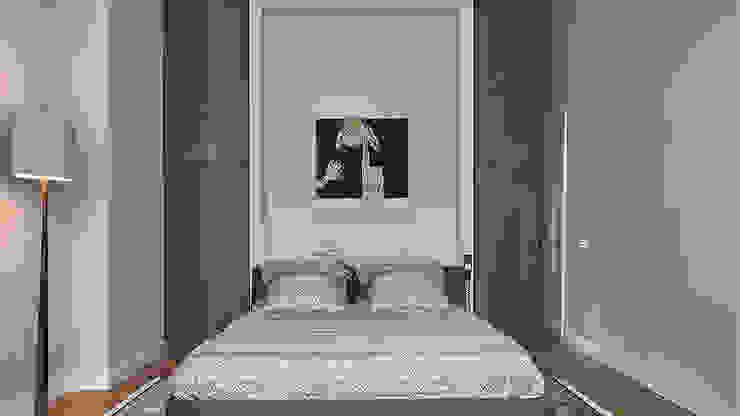 Modern ontwerp in monumentale stadswoning Moderne slaapkamers van BNLA architecten Modern