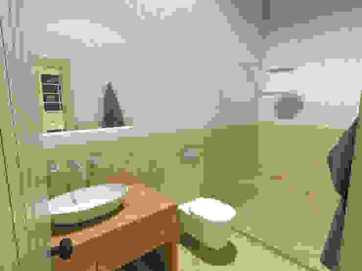 Casa em Faro do Alentejo, Beja, Portugal Mediterranean style bathrooms by Grupo Norma Mediterranean