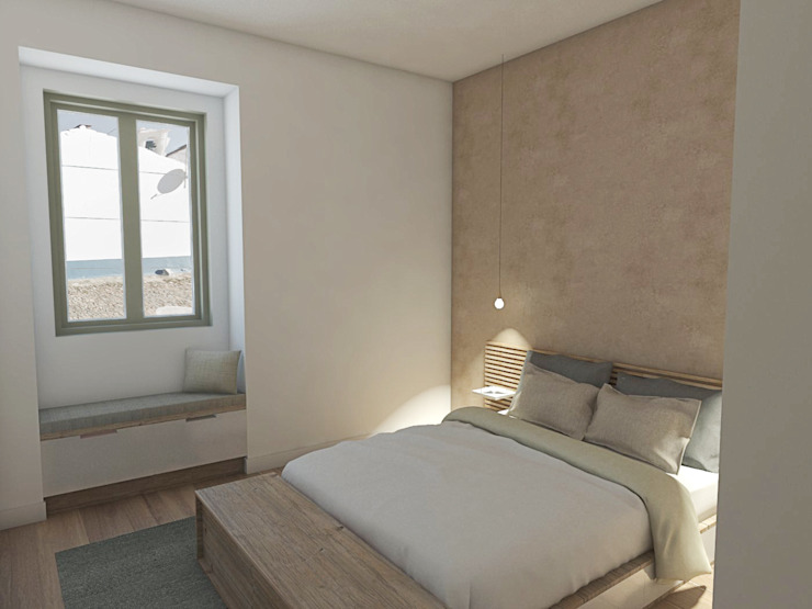 Casa em Faro do Alentejo, Beja, Portugal Mediterranean style bedroom by Grupo Norma Mediterranean
