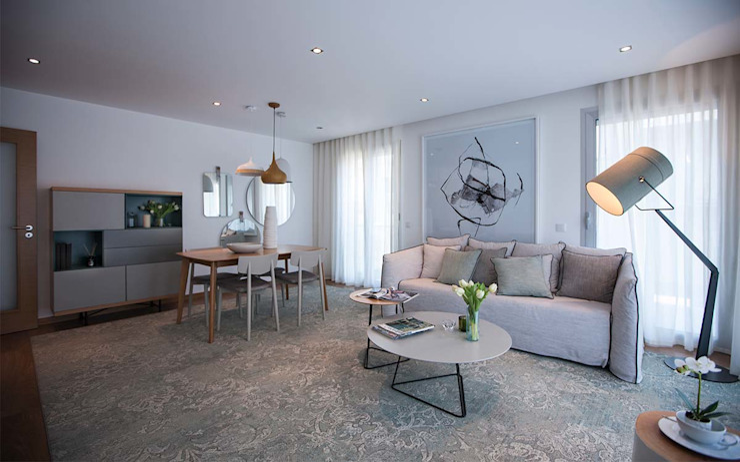 Modern Living Room by Tralhão Design Center Modern