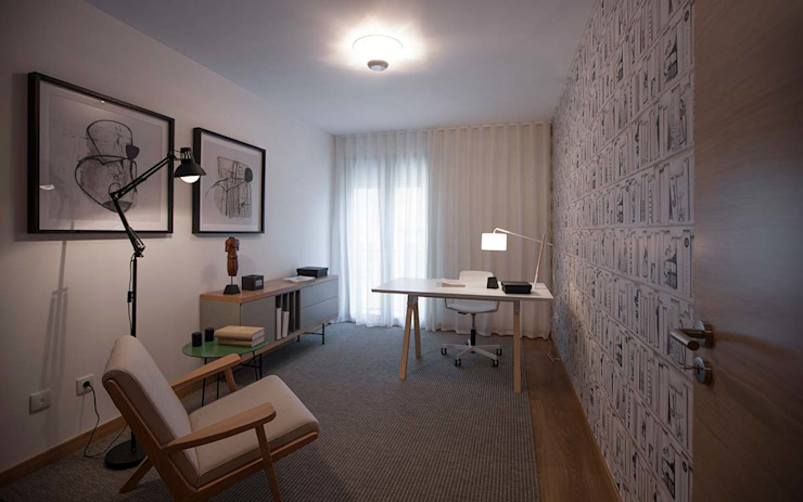 Modern Study Room and Home Office by Tralhão Design Center Modern