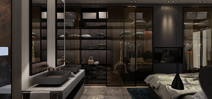 AK - Westown Modern style bedroom by STUDIO PARADIGM Modern
