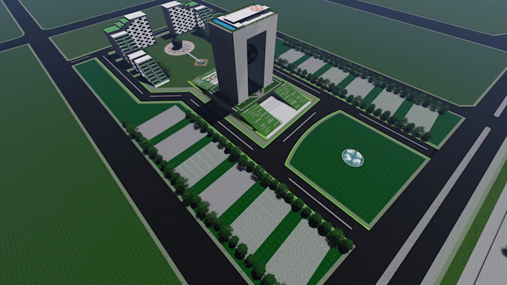 Architecture visualisation for APNRT Icon building top view by Srushti VIZ