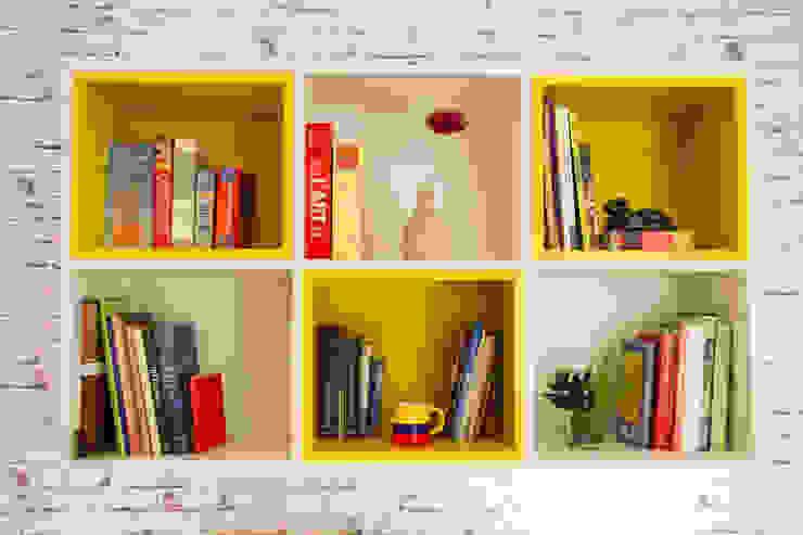 Seleto Studio Design de Interiores Modern study/office MDF Yellow