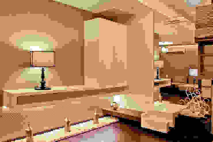 master bedroom tv unit Modern style bedroom by UNLOCK ©™ Modern MDF