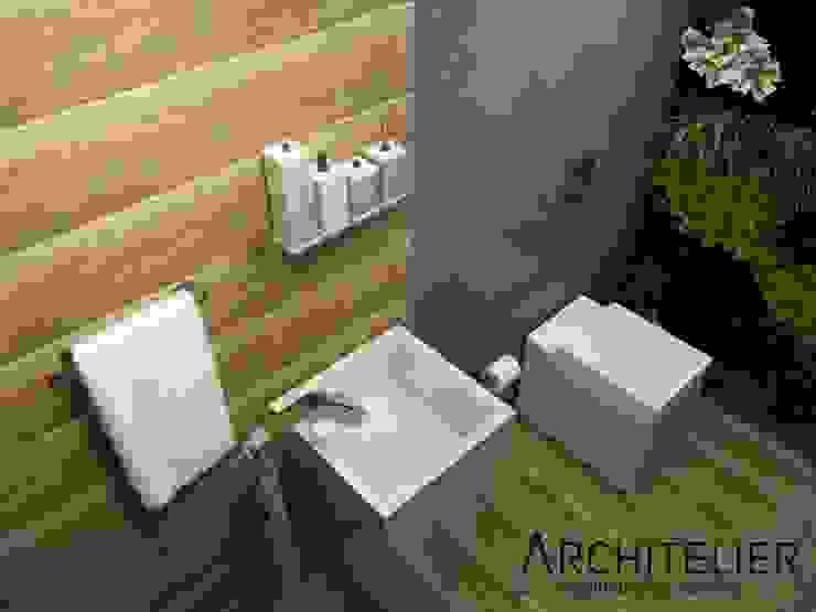 Lavabo Eco Architelier Arquitetura e Urbanismo Banheiros rústicos