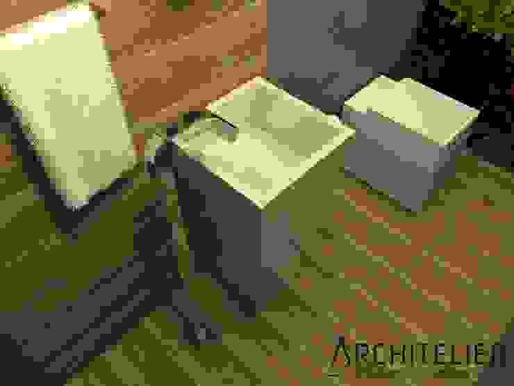Lavabo Eco: Banheiros  por Architelier Arquitetura e Urbanismo