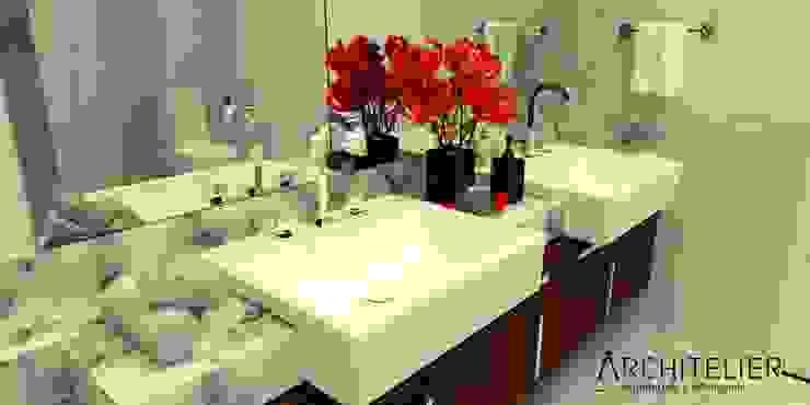 Architelier Arquitetura e Urbanismo Mediterranean style bathroom