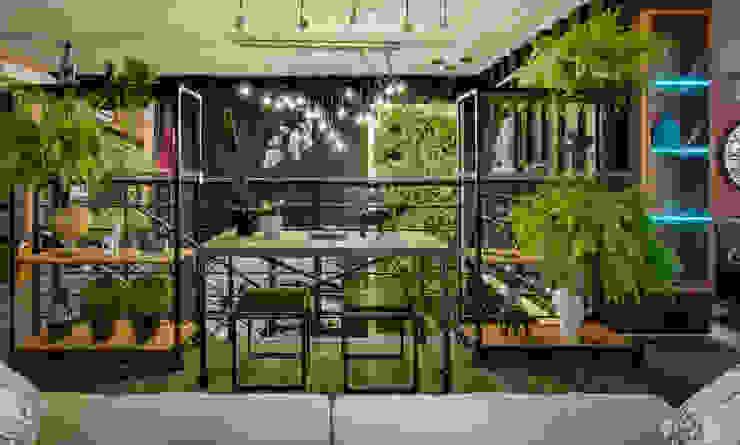 LOFT INDUSTRIAL DA BIÓLOGA Salas de estar industriais por Estúdio Pantarolli Miranda - Arquitetura, Design e Arte Industrial