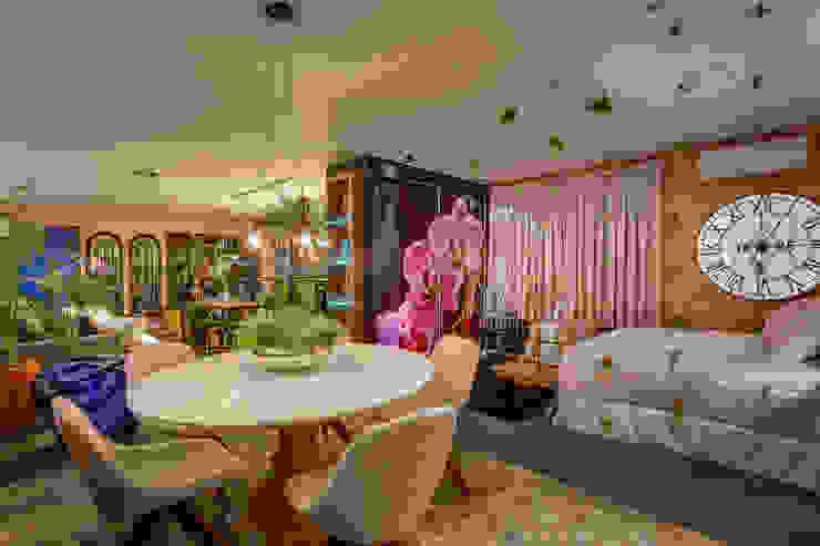 Estúdio Pantarolli Miranda - Arquitetura, Design e Arte Ruang Makan Gaya Industrial