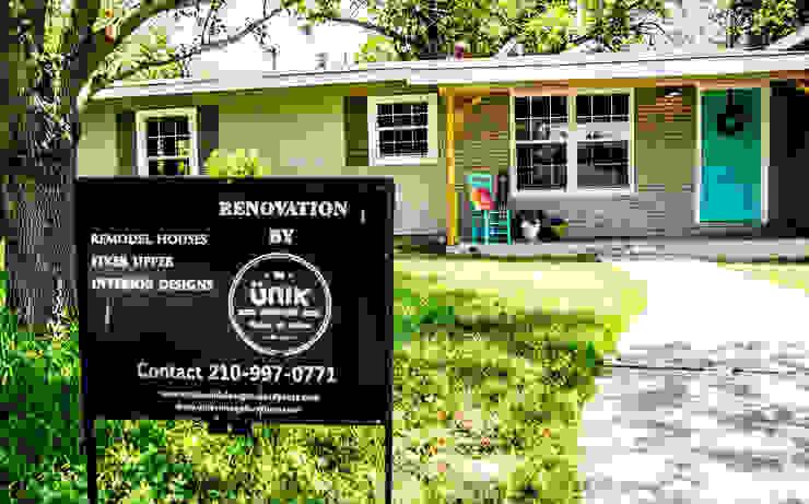 Unik Flip House 2 Williamsburg San Antonio Tx Exterior House by Noelia Ünik Designs Country