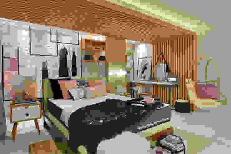Спальня в скандинавском стиле от ARQUITETURA - Camila Fleck Скандинавский