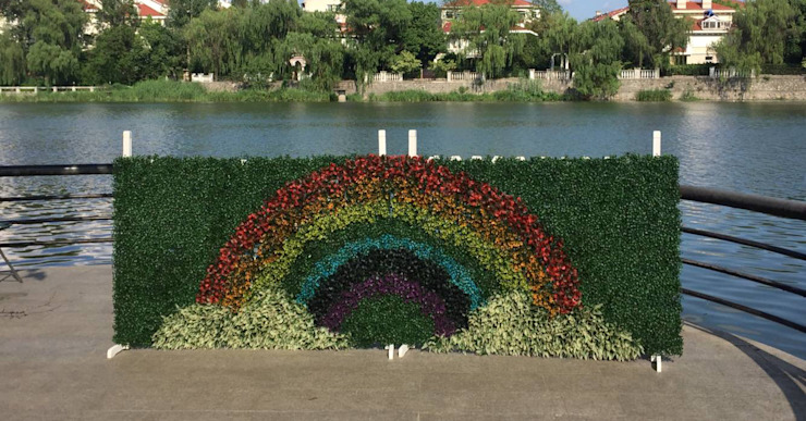 """""""rainbow"""" design by SUNWING artificial plants Country style event venues by Sunwing Industrial Co., Ltd. Country Plastic"""
