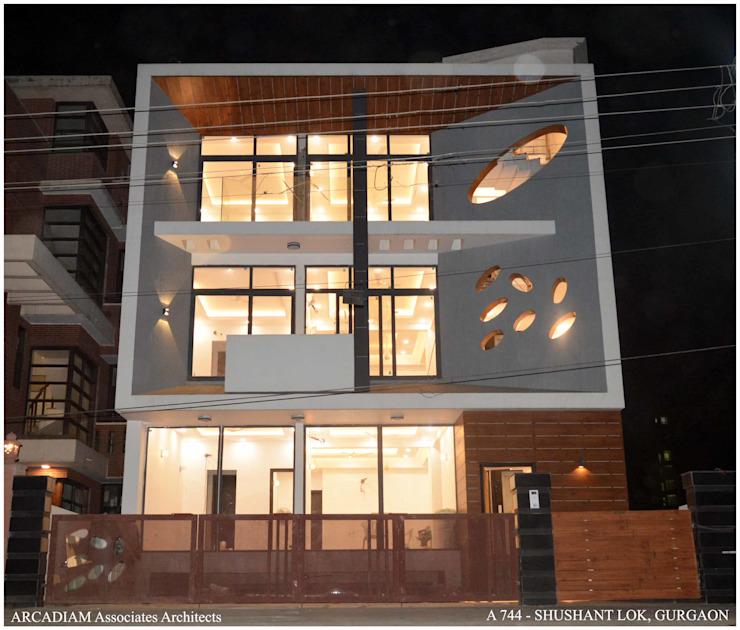 A-744 Modern Houses by M/s ARCADIAM Associates Architects Modern