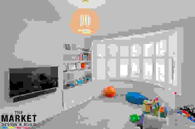 Stunning North London Home Extension & Loft Conversion The Market Design & Build Salas de estilo moderno