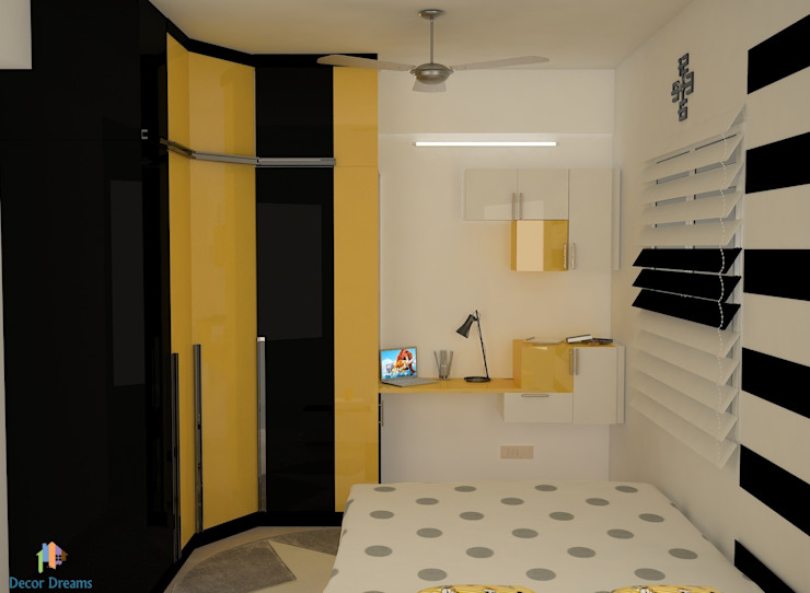 DLF Woodland Heights, 3 BHK - Mrs. Darakshan Modern style bedroom by DECOR DREAMS Modern