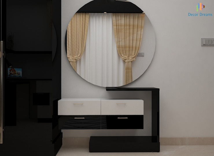 DLF Woodland Heights, 3 BHK - Mrs. Darakshan Modern dressing room by DECOR DREAMS Modern