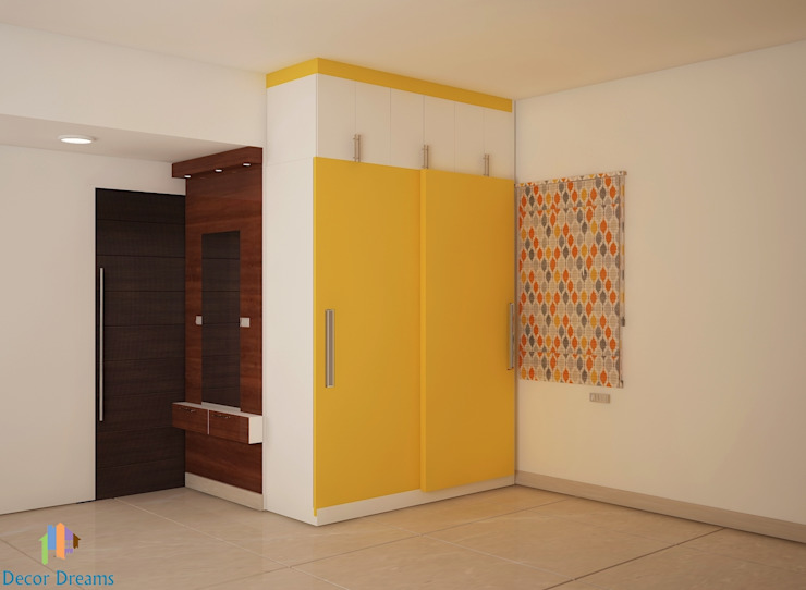 Ahad Euphoria, 2 BHK - Mr. Krishna Modern style bedroom by DECOR DREAMS Modern