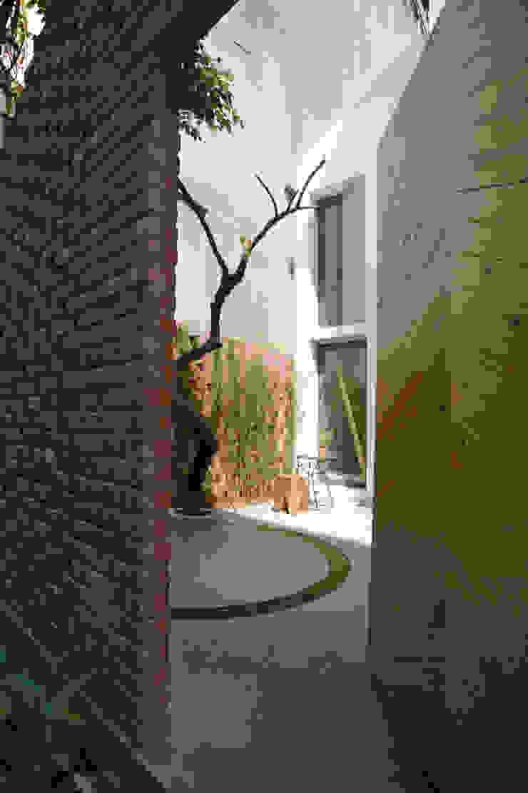Maison T Vườn phong cách hiện đại bởi NGHIA-ARCHITECT Hiện đại