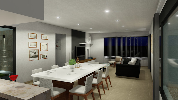 CASA HD Minimalist dining room by ARBOL Arquitectos Minimalist