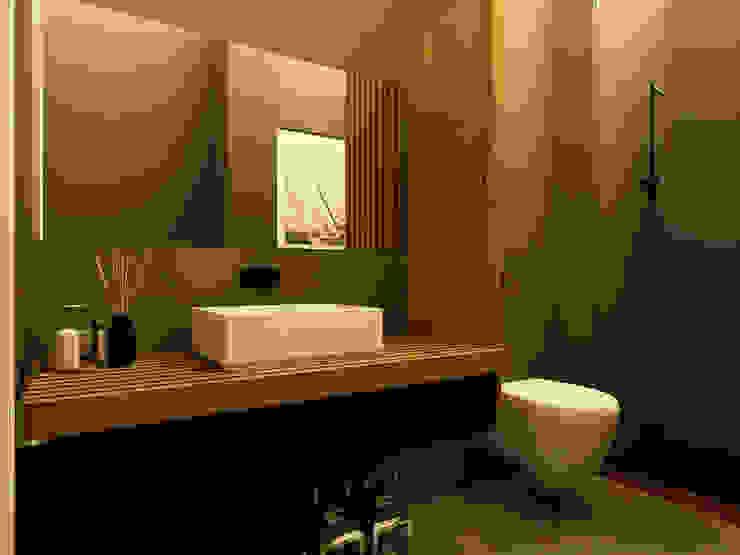 Apartamento no Lumiar Casas de banho modernas por Rita Glória interior design Moderno
