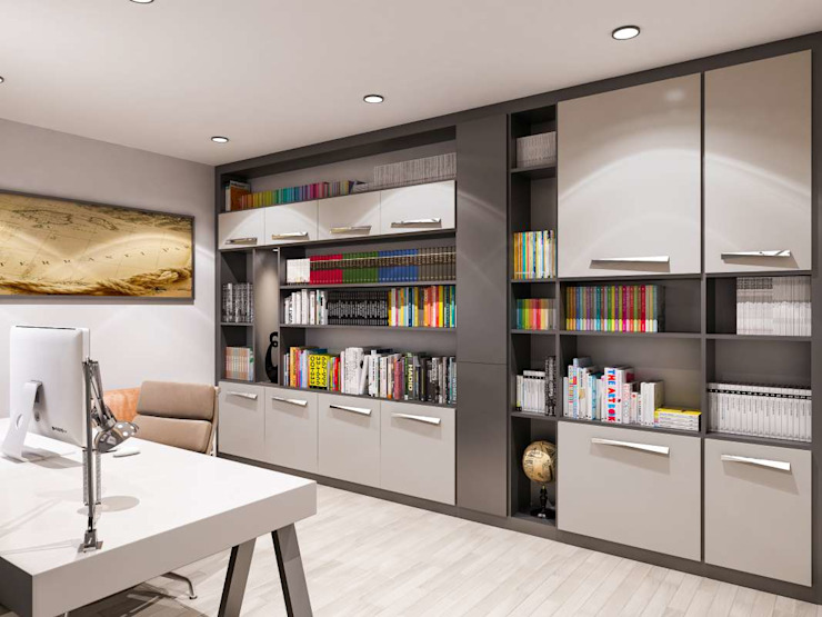 Modern Study Room and Home Office by VERO CONCEPT MİMARLIK Modern