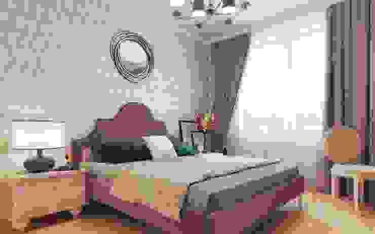 One Line Design Dormitorios de estilo clásico Rosa
