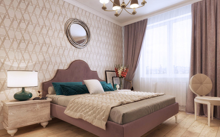 One Line Design 臥室 Pink