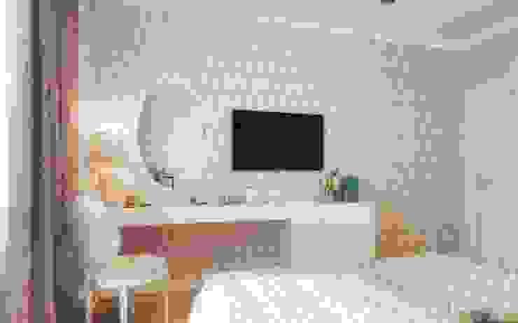 One Line Design Salones de estilo clásico Blanco