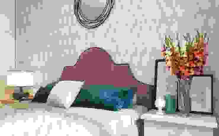 One Line Design 臥室床與床頭櫃