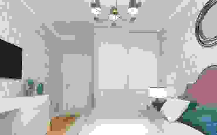One Line Design Dormitorios de estilo clásico Blanco