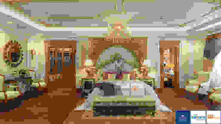 Nội thất phòng ngủ master tân cổ điển, Mrs.Thắm - Thanh Hóa: công nghiệp  by Công ty TNHH thiết kế nội thất KingPlace, Công nghiệp