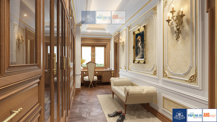 Nội thất phòng ngủ master tân cổ điển, Mrs.Thắm – Thanh Hóa: công nghiệp  by Công ty TNHH thiết kế nội thất KingPlace, Công nghiệp