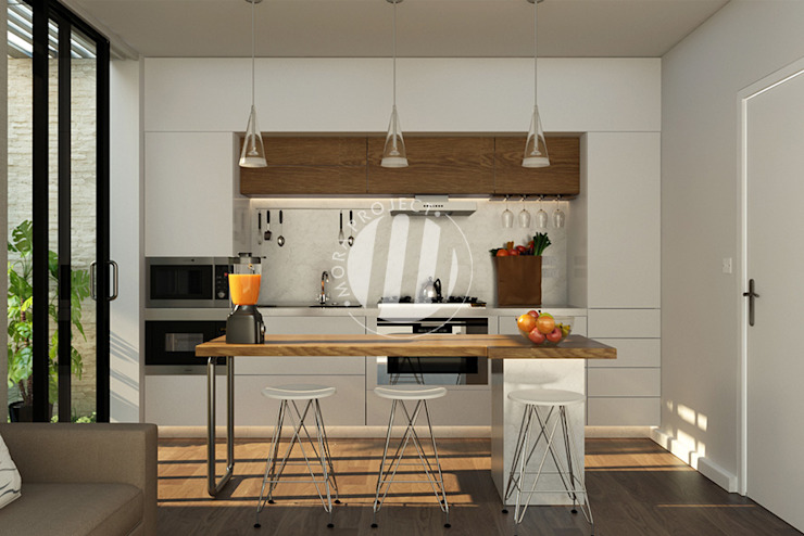 Kitchen units by Maxima Studio Medan Interior Design & Arsitek, Minimalist Wood Wood effect