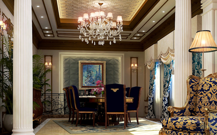 Villa Mrs. Nabila Eclectic style dining room by Rêny Eclectic