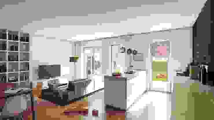 Wohnküche Moderne Hotels von VISUALIMPRESSION - Virtuelle Realität Modern