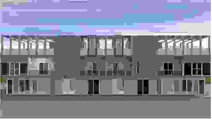 ออกแบบ อาคารพานิชย์ 2ชั้น 8คูหา style modern ค่ะ: ทันสมัย  โดย mayartstyle, โมเดิร์น