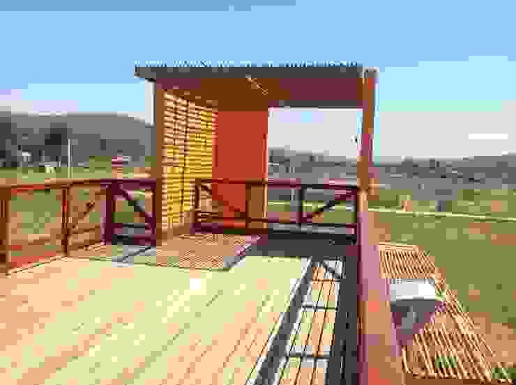 Arquitectura Amanda Perez Feliú Passive house Engineered Wood Multicolored