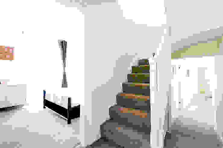 Property Conversion Modern corridor, hallway & stairs by Corebuild Ltd Modern
