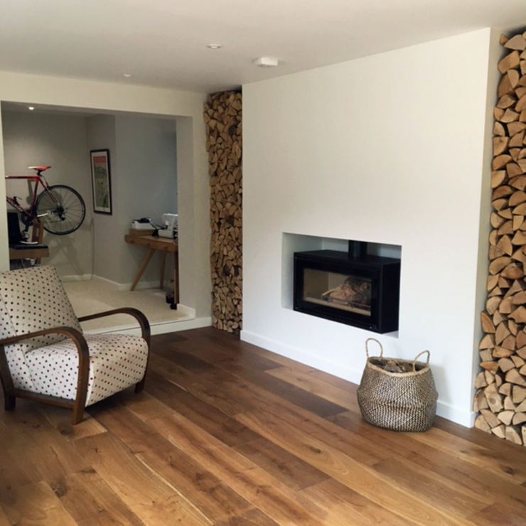 House in Awbridge Ruang Keluarga Modern Oleh LA Hally Architect Modern