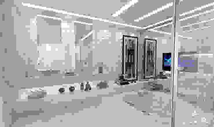 Banho Casal - P&F Banheiros modernos por Larissa Reis Arquitetura Moderno