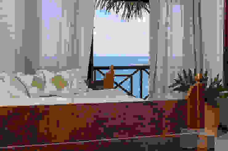 Salon tropical par Patrícia Nobre - Arquitetura de Interiores Tropical
